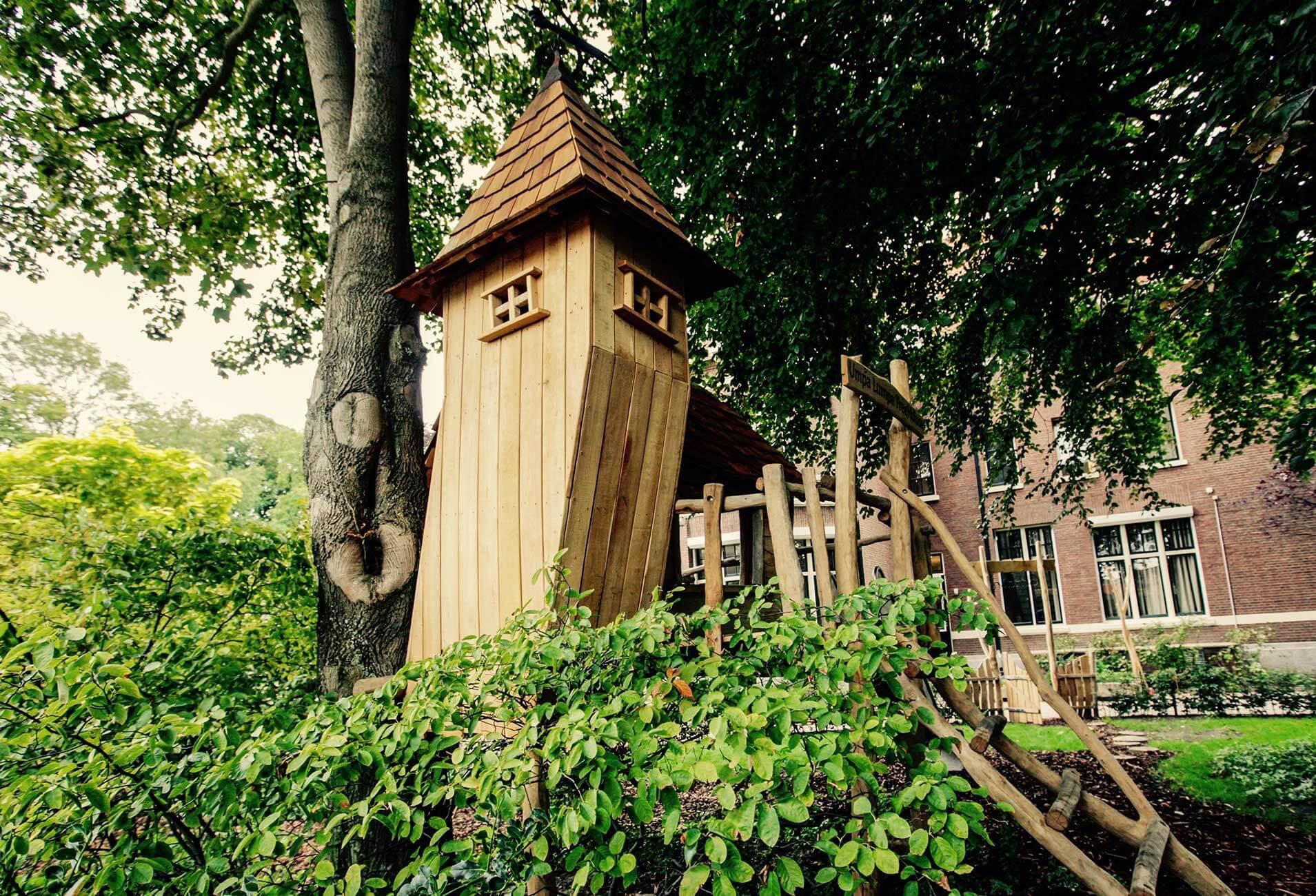 toren op boomhut