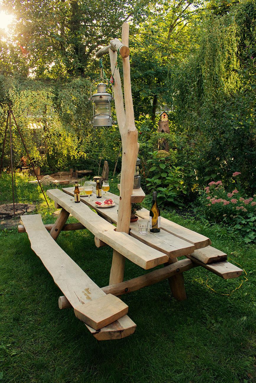 op maat gemaakte picknicktafel