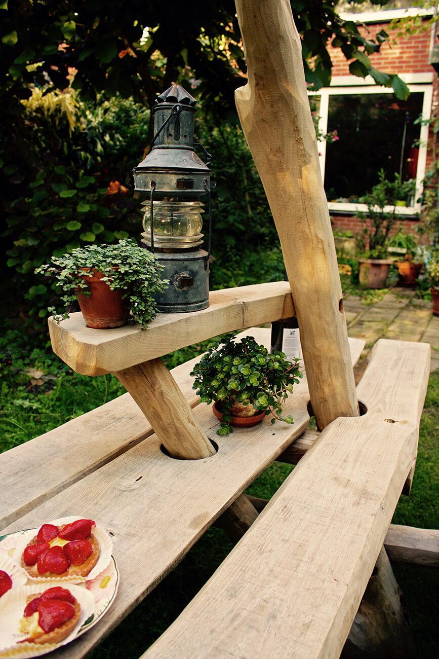 natuurlijke picknicktafel