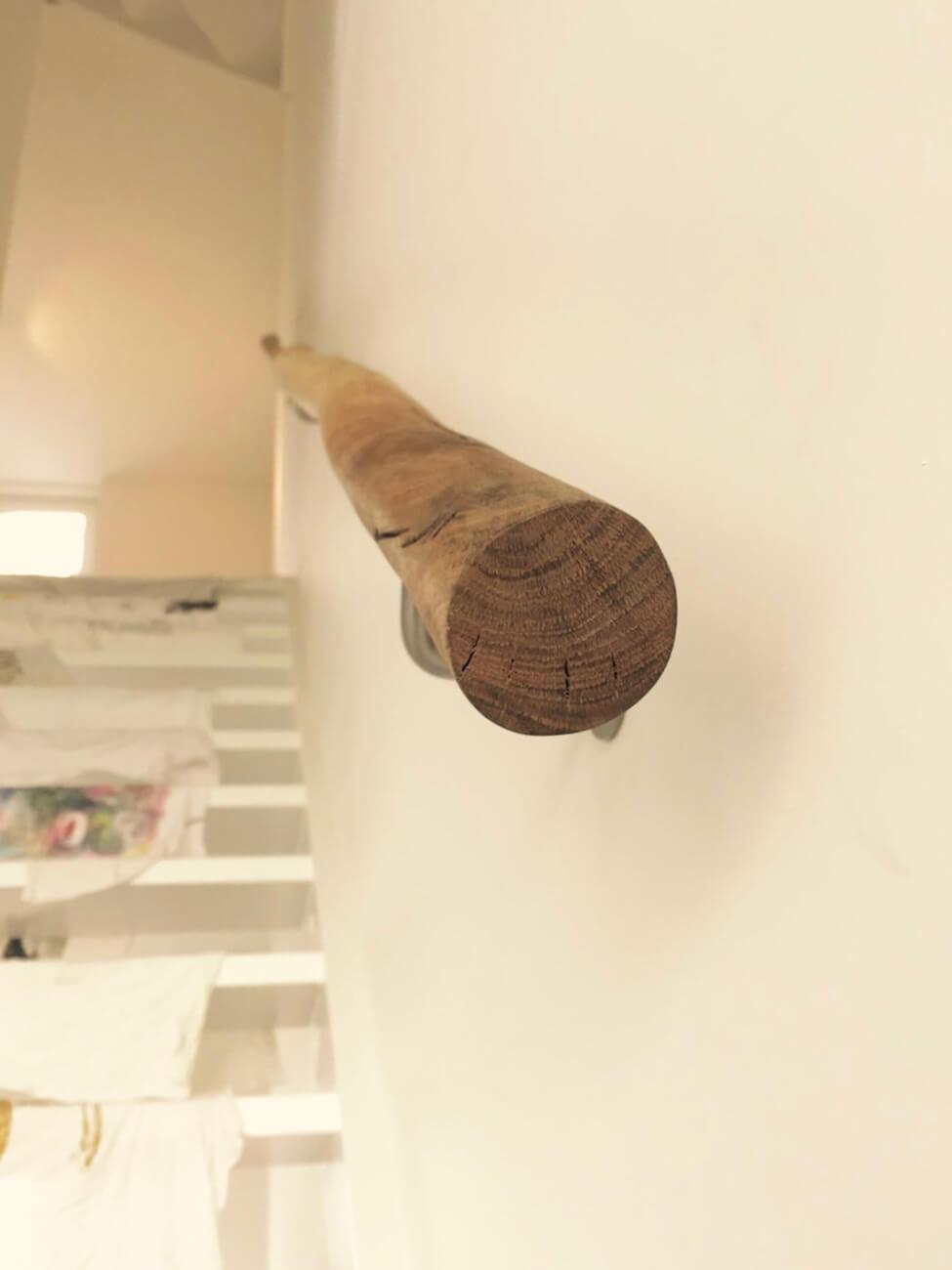 houten tak trapleuning