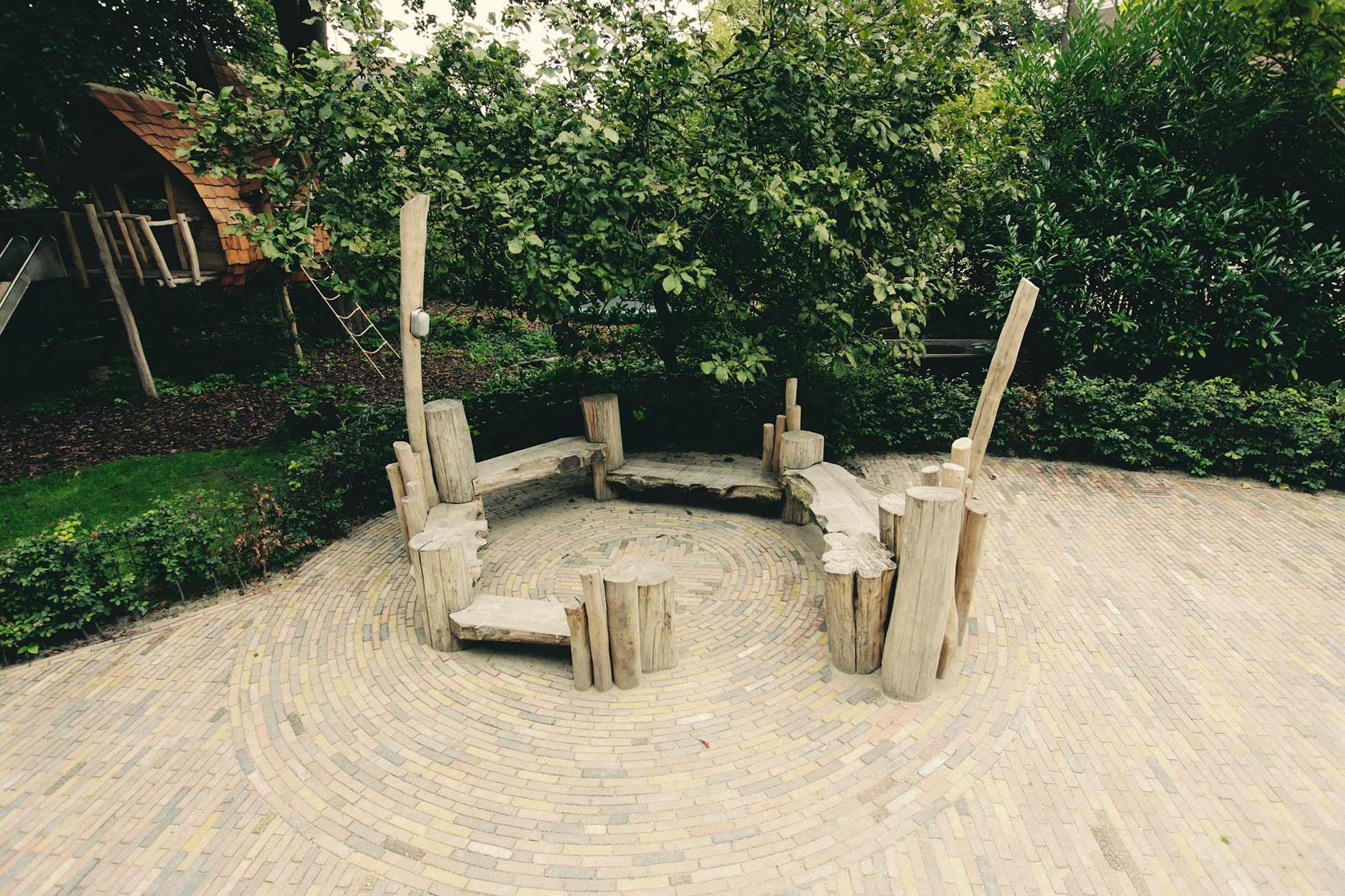 natuurlijk houten bank