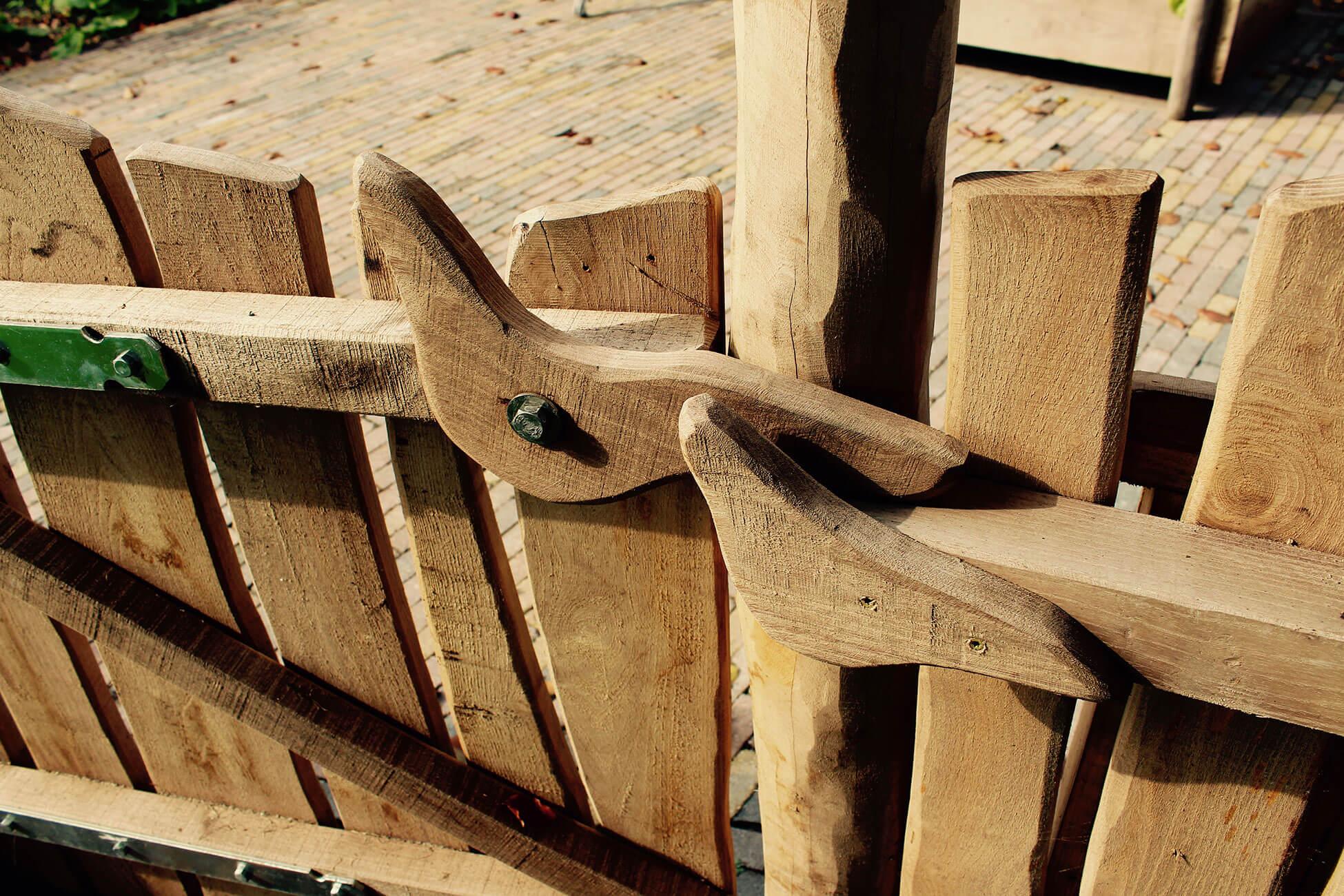 houten hek natuur speeltuin