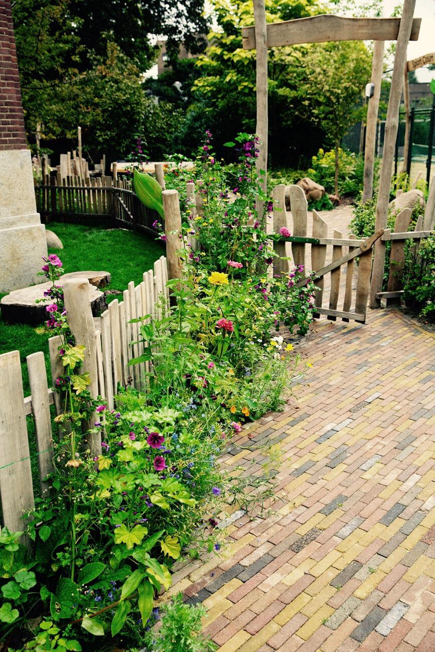 houten hek natuurspeeltuin