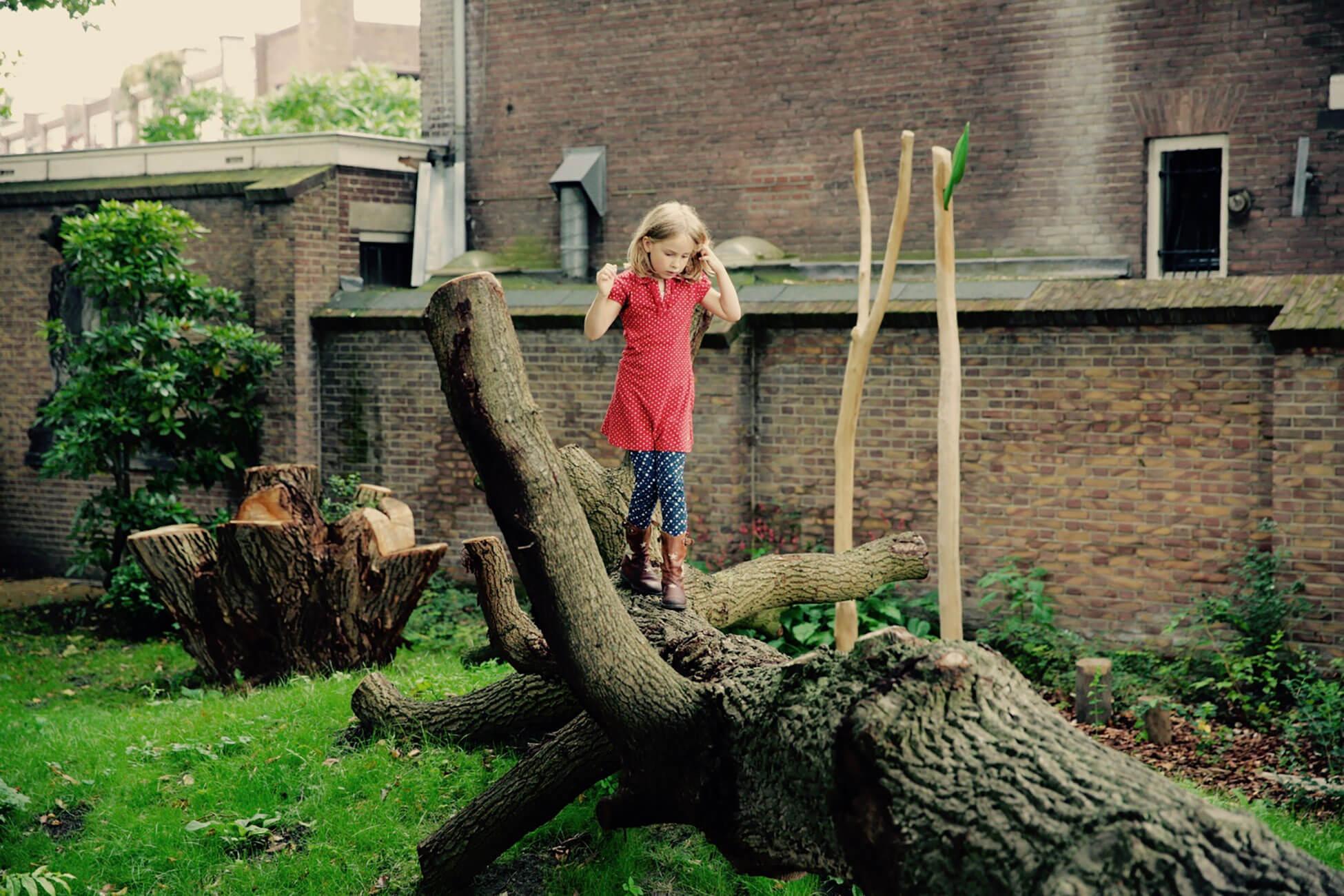 natuurspeeltuin boomstam
