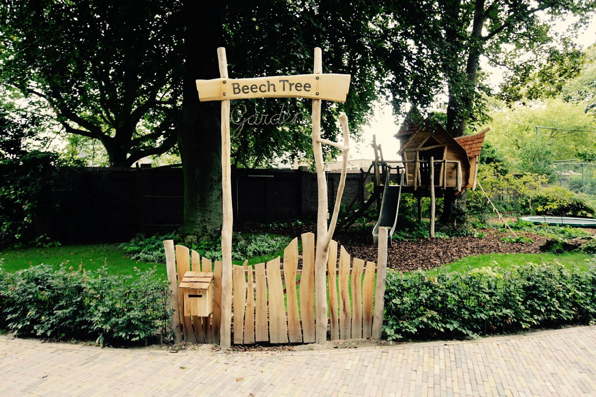houten hekje natuurspeeltuin