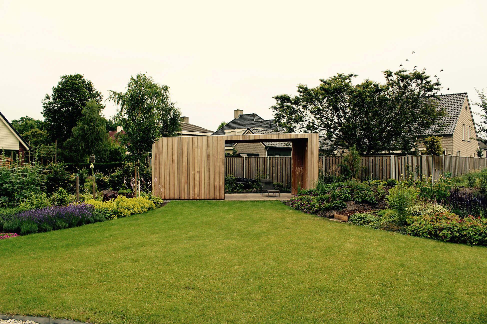 minimalistisch tuinhuis